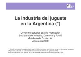 La industria del juguete en la Argentina (*)