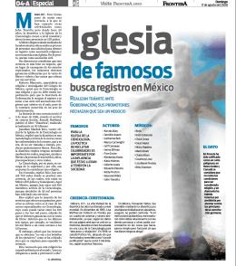 busca registro en México Iglesia de famosos