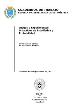 Juegos y Experimentos Didácticos de Estadística y Probabilidad.