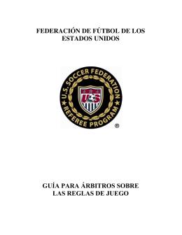 federación de fútbol de los estados unidos guía para árbitros sobre