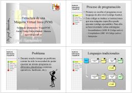 Estructura de una Máquina Virtual Java (JVM) Proceso de
