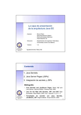 La capa de presentación de la arquitectura Java EE