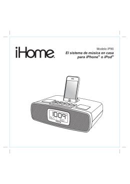 El sistema de música en casa para iPhone ® o iPod ®