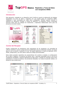 TcpGPS Básico. Dossier. Español