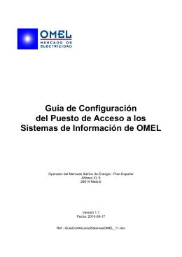 Guía de Configuración del Puesto de Acceso a los Sistemas