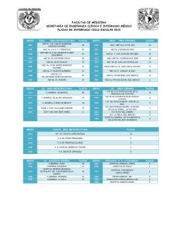 Sedes y Subsedes Internado Médico 2015