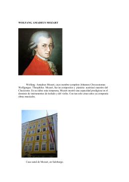 WOLFANG AMADEUS MOZART Wolfang Amadeus Mozart, cuyo