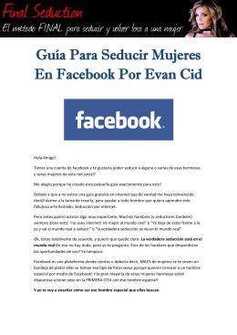 PDF Guía Para Seducir Mujeres En Facebook Por Evan Cid