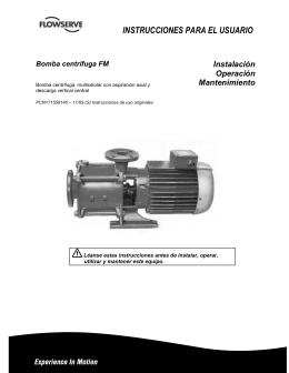 Bomba centrífuga FM Instrucciones Para El