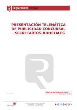 Secretarios Judiciales - Registradores de España