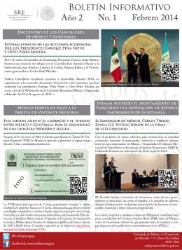 Boletín Informativo Año 2 No. 1 Febrero 2014