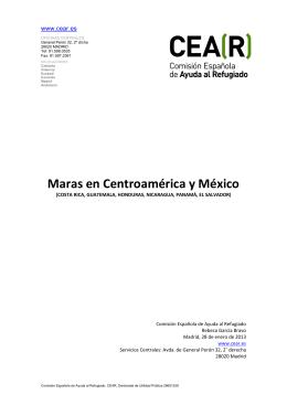 CENTROAMÉRICA. 2013. Maras - Comisión Española de Ayuda al