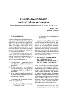 El ciclo diversificado industrial en Venezuela