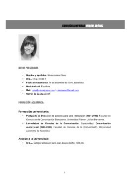 CV Mireia Juárez
