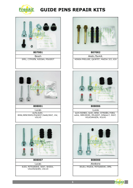 GUIDE PINS REPAIR KITS