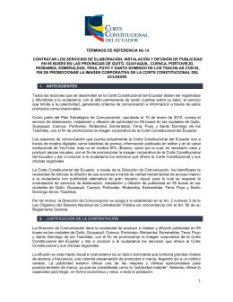 Se adjunta documento - Corte Constitucional del Ecuador