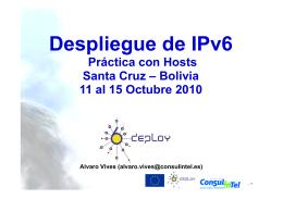 Práctica 1 - Instalación de IPv6 en host