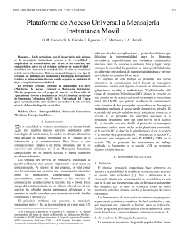 Plataforma de Acceso Universal a Mensajería Instantánea Móvil