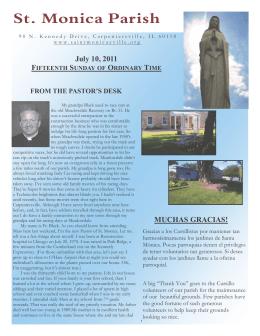 JULY 10, 2011 - St Monica Parish