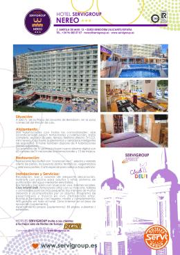 Descarga la información del Hotel Servigroup Nereo * * * en formato