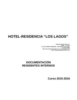 """HOTEL-RESIDENCIA """"LOS LAGOS"""" - Residencia de Estudiantes"""