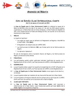 ANUNCIO DE REGATA - Federación Gallega de Vela