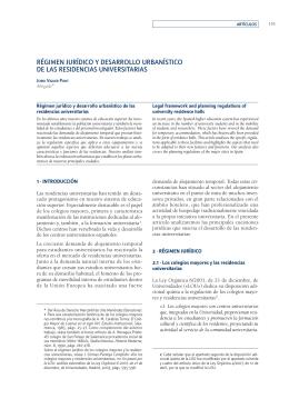Régimen jurídico y desarrollo urbanístico de las