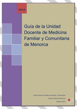 Guía de la Unidad Docente de Medicina Familiar y - IB
