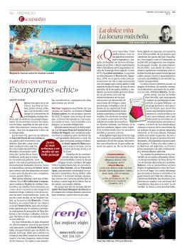 2014-06-13 Hoteles con terraza. Revista ABC del Ocio. Junio 2014