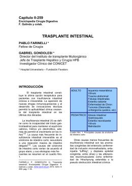 TRASPLANTE INTESTINAL - Sociedad Argentina de Cirugía Digestiva