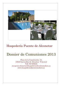 Dossier de Comuniones 2013 - hospederias de Extremadura