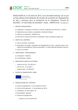 Resolución de 13 de enero de 2015, de la Secretaría General, por