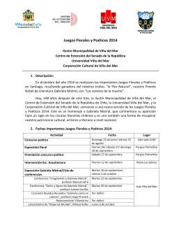 Juegos Florales y Poéticos 2014 - Ilustre Municipalidad de Viña del