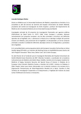 Leocadio Rodríguez Mañas - Universidad Pública de Navarra