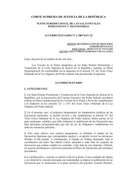 Pleno jurisdiccional de las salas penales, Acuerdo plenario 1