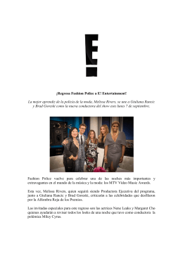 ¡Regresa Fashion Police a E! Entertainment! La mejor aprendiz de