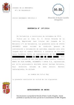 sentencia clausula suelo 28.11.14 – mercantil 1 valladolid vs ceiss