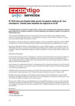 """El TSJC dice que España debe asumir los gastos médicos de """"sus"""