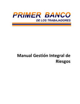 Manual Gestión Integral de Riesgos