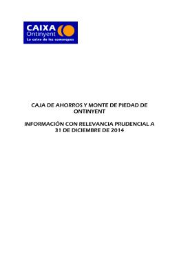 CAJA DE AHORROS Y MONTE DE PIEDAD DE