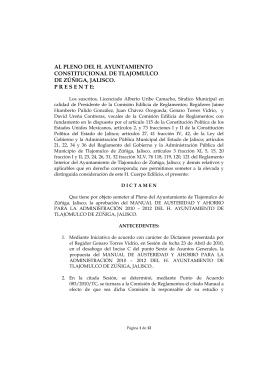 AL PLENO DEL H. AYUNTAMIENTO