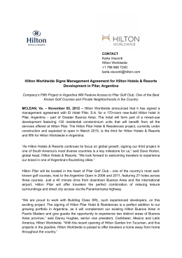Hilton Worldwide Signs Management Agreement for Hilton Hotels