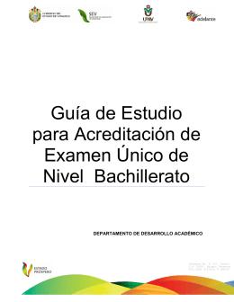 Guía de Estudio para Acreditación de Examen Único de
