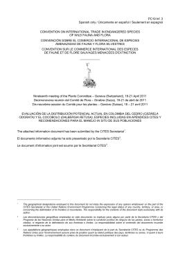 Evaluación de la distribución potencial actual en Colombia