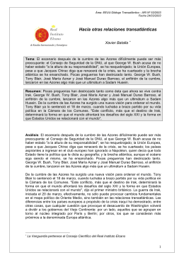 ARI Nº 53-2003 - Real Instituto Elcano