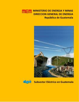 Subsector eléctrico de guatemala