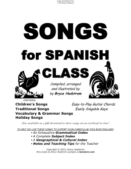 for SPANISH CLASS