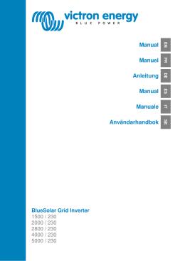 Manual Manuel Anleitung Manual Manuale