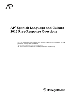 AP Spanish Language and Culture 2015 Free