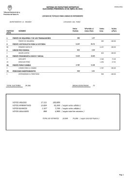 perez - Tribunal Electoral de la Provincia de Santa Fe